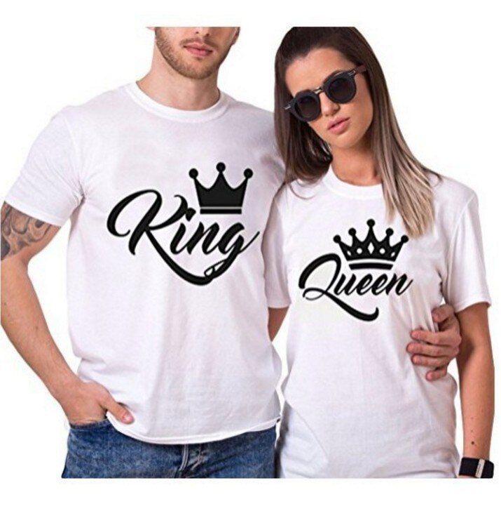 King Queen Couples T Shirt