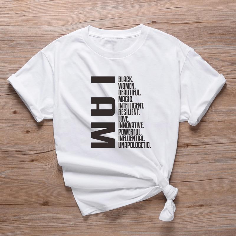 I Am Black Women Slogan