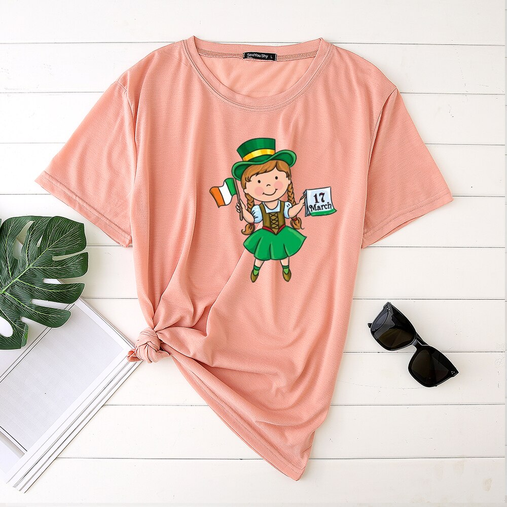 Girl Holds Irish Flag
